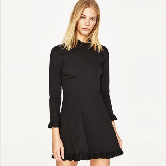Zara Dresses Ruffle Trim Mini Dress Poshmark